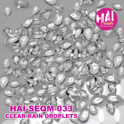 Clear Rain Droplets, HAI Sequins -