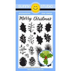 Christmas Trimmings, Sunny Studio Clear Stamps - 797648686573