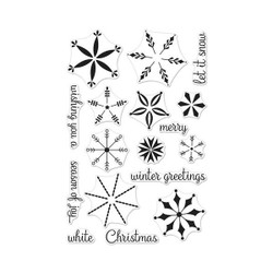 Stacking Snowflakes, Hero Arts Clear Stamps - 857009194700