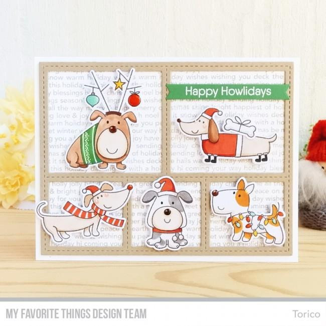 Christmas Background, My Favorite Things Cling Stamps - 849923028469