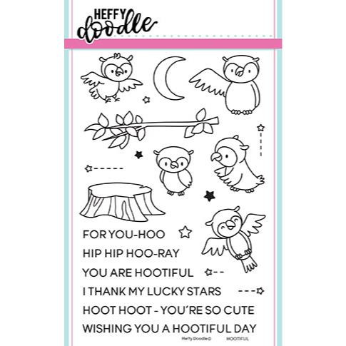 Hootiful, Heffy Doodle Clear Stamps - 5060540220769