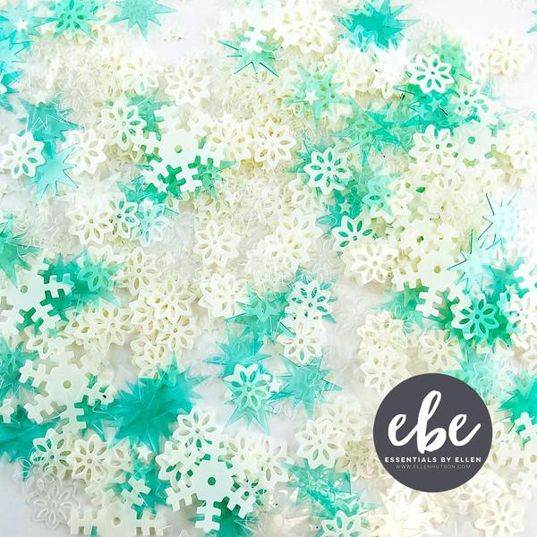 Snow Flurries Mix, Essentials by Ellen Embellishments -