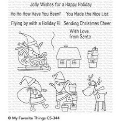 Here Comes Santa Claus, My Favorite Things Clear Stamps - 849923028773