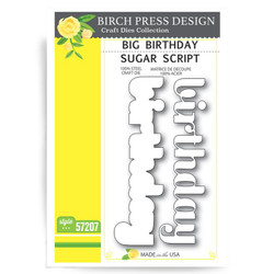 Big Birthday Sugar Script, Birch Press Design Dies - 873980572078