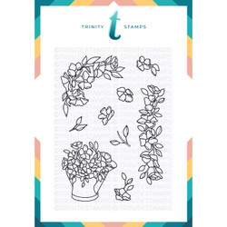 Hopeful Flowers, Trinity Stamps Clear Stamps -