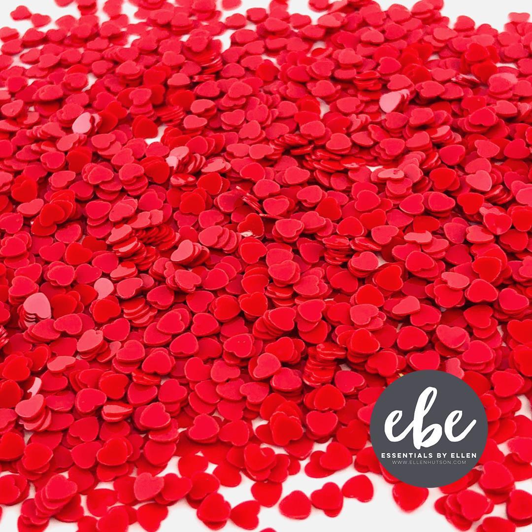 Tiny Red Heart Sequins, Essentials by Ellen Embellishments -