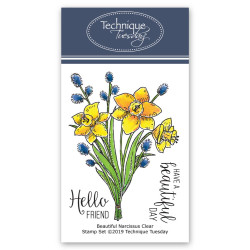 Beautiful Narcissus January 2019, Technique Tuesday Greenhouse Society Clear Stamp Program - 811784027561