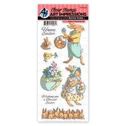 Basket of Blessings, Art Impressions Clear Stamps - 750810795657