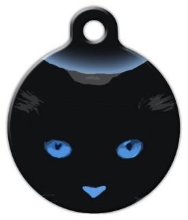 Blue Boo Kitty Cat ID Tag