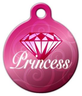 Diamond Princess Dog ID Tag-Cat ID Tag