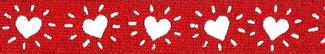 Hearts Beastie Band Cat Collar