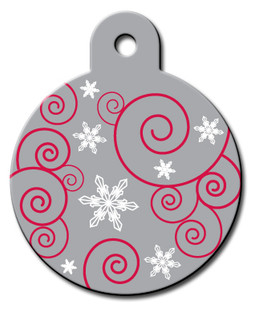 Holiday Swirls Dog ID Tag-Cat ID Tag