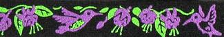 Hummingbirds and Fuschia Beastie Band Cat Collar