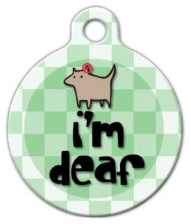 Im Deaf Dog ID Tag-Cat ID Tag