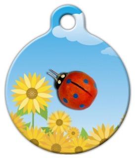 Lady Bug and Flower Dog ID Tag-Cat ID Tag