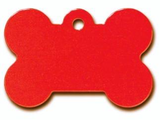 Large Red Bone Dog ID Tag