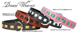 Luxury Dreamweavers Leather Dog Collars