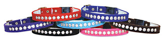Luxury Velvet Rhinestone Cat Collars