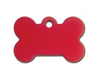 Small Red Bone Dog ID Tag-Cat ID Tag