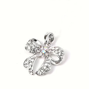 Rhinestone Bow Charm for Pet Collars