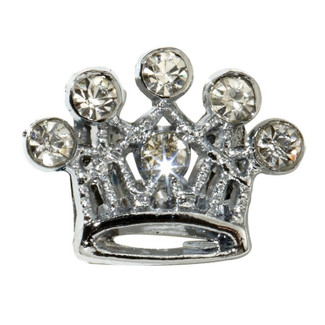 Rhinestone Slide Crown Charms