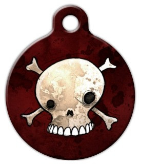 Skull and Crossbones Dog ID Tag-Cat ID Tag