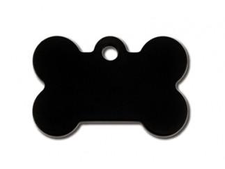 Small Black Bone Cat ID Tag-Dog ID Tag