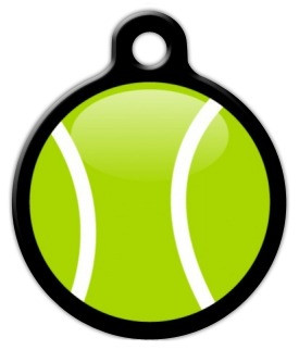 Tennis Ball Dog ID Tag