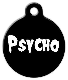 Psycho Pet ID Tag