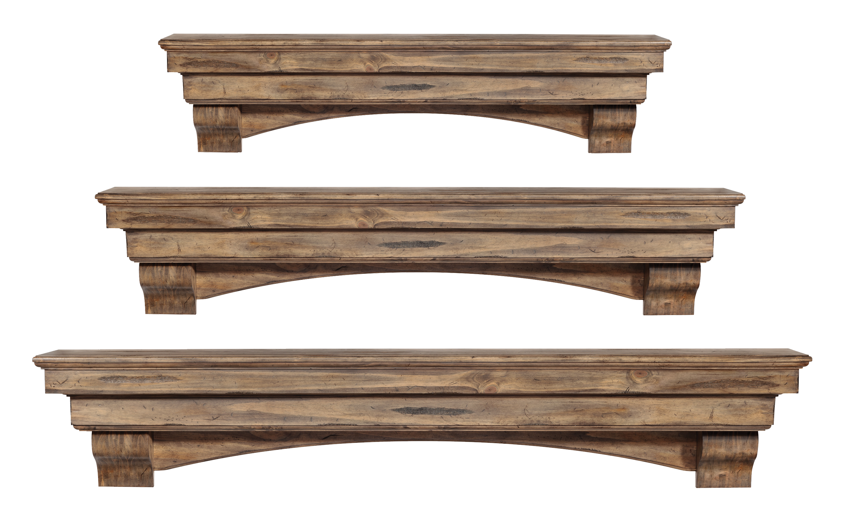 choose mantle fireplace or solid more distressed s views wood shelf oak an finish mantel