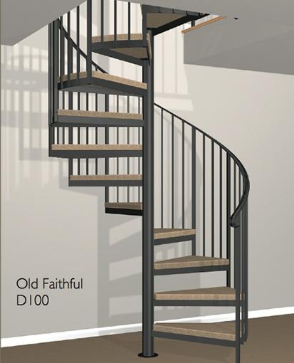 D100 Crown Heritage Metal Spiral Staircase ...