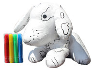 Color Me Pal's DIY Washable and Reusable Coloring Dog - Child Developmental Plush Toy