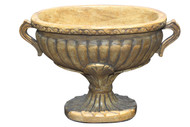 """Golden Oval Chariot Urn Container 6.5"""" Height"""