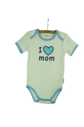 "Eotton Certified Organic Cotton ""I Love Mom"" Bodysuit"