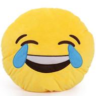 Emoticon Emoji Yellow Round Cushion Pillow Stuffed Plush Toy Doll Laugh To Tears