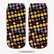 Emoticon Multi Emoji Ankle Socks Black One Size Fits All