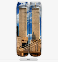 9/11 Stocking Socks One Size Fits All Brown & Blue