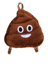 Emoticon Emoji Plush Backpack School Bag Brown Poop