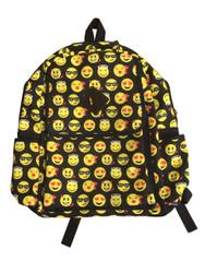 Emoticon Emoji Backpack School Bag Multi Color