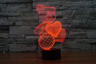 Phantom Lamps Bear With Heart 3D LED Illusion Lamp