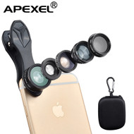 Phone Lens Apexel 5 Camera Lens Kit! 2x Telescope, Fisheye, Wide Angle, Macro & CPL