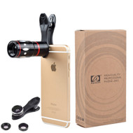 Phone Lens Apexel 4 Camera Lens Kit! 10x Telescope, Fisheye, Wide Angle, & Macro