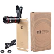 Phone Lens Apexel 4 Camera Lens Kit! 10x Telescope, Fisheye, Wide Angle, & Macro