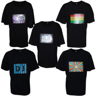 Rolling Lit Sound Activated LED Light Flashing Equalizer T-shirt