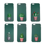 Sunology Sunny Day Potted Cactus iPhone Cases Green