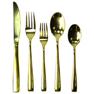 Stainless Steel Flatware Set 5-Piece Silverware Setting (Service For 1) Gold/Rose Gold