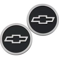 Bowtie logo Freeze Plug Inserts - Black, raised logo