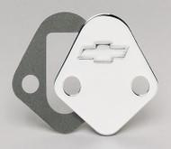 Fuel Pump Block-Off Plates - Big-Block, chrome