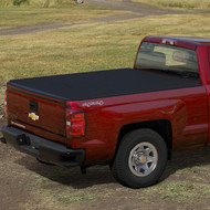 "Tonneau Cover - Soft Roll-Up - Black with Embossed Bowtie Logo, Crew Cab, 5'8"" Short Box"