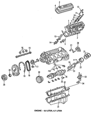 Crankshaft, Forged Steel (used in late-style ZZ4 engine)